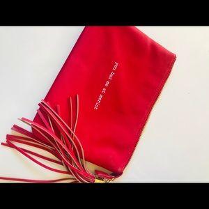 Handbags - Red  cosmetic clutch bag